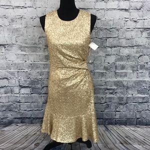 Eliza J Matte Sequin Dress